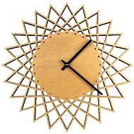 AMADEA Dřevěné hodiny nástěnné ve tvaru slunce, masivní dřevo, průměr 30 cm - Hodiny
