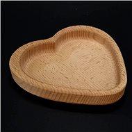 AMADEA Dřevěná miska ve tvaru srdce, masivní dřevo, rozměr 13,5x13,5x2 cm - Miska