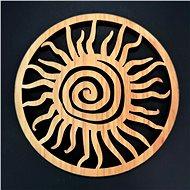 AMADEA Dřevěný podtácek kulatý ve tvaru slunce, masivní dřevo, průměr 10 cm - Podložka