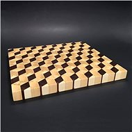 AMADEA Wooden Cutting Board, Serving Mosaic, Solid Wood - Made of 3 Types of Wood, 29x27x2,5cm - Cutting board
