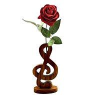 AMADEA Dřevěná váza ve tvaru houslového klíče, masivní dřevo, výška 24 cm - Váza