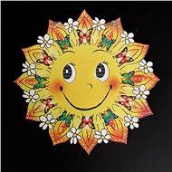 AMADEA Dřevěná ozdoba barevná slunce 17 cm - Vánoční ozdoby