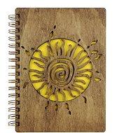 AMADEA Dřevěný zápisník A6 - slunce - Zápisník