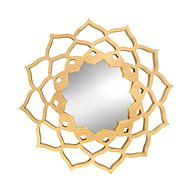 AMADEA Dřevěné zrcadlo ve tvaru mandaly, masivní dřevo, průměr 40 cm - Zrcátko