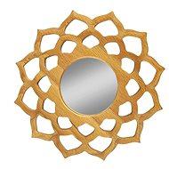 AMADEA Dřevěné zrcadlo ve tvaru mandaly, masivní dřevo, průměr 15 cm - Zrcátko