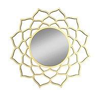 AMADEA Dřevěné zrcadlo ve tvaru mandaly, průměr 41 cm - Zrcátko