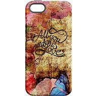 "MojePouzdro ""Láska je všechno"" + ochranné sklo pro iPhone 6/6S - Ochranný kryt by Alza"