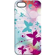"""MojePouzdro """"Bílý motýl"""" + ochranné sklo pro iPhone 5s/SE - Ochranný kryt by Alza"""