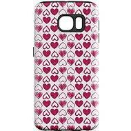 """MojePouzdro """"Srdíčka"""" + ochranná fólie pro Samsung Galaxy S6 Edge - Ochranný kryt by Alza"""
