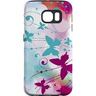 """MojePouzdro """"Bílý motýl"""" + ochranná fólie pro Samsung Galaxy S7 Edge - Ochranný kryt by Alza"""