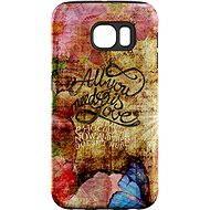 """MojePouzdro """"Láska je Všechno"""" + ochranná fólie pro Samsung Galaxy S7 Edge - Ochranný kryt by Alza"""