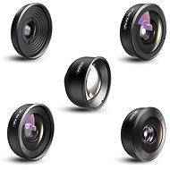 Apexel profesionální sada objektivů pro smartphone HD/4K 5v1 - Objektiv pro mobilní telefon