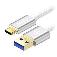 AlzaPower AluCore USB-C 3.2 Gen 1, 1m Silver - Datový kabel