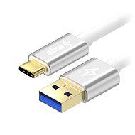 AlzaPower AluCore USB-C 3.2 Gen 1, 2m stříbrný - Datový kabel