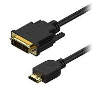 Video kabel AlzaPower DVI-D na HDMI Single Link propojovací 2m