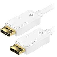 AlzaPower DisplayPort (M) na DisplayPort (M) propojovací stíněný 2m bílý - Video kabel