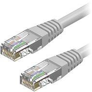 AlzaPower Patch CAT5E UTP 0.25m šedý - Síťový kabel