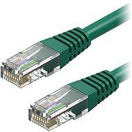 AlzaPower Patch CAT5E UTP 0.25m zelený - Síťový kabel