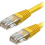 AlzaPower Patch CAT5E UTP 0.25m žlutý - Síťový kabel