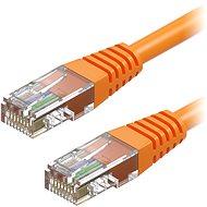 AlzaPower Patch CAT5E UTP 0.25m oranžový - Síťový kabel