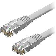 AlzaPower Patch CAT6 UTP Flat 2m šedý - Síťový kabel