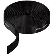 Organizér kabelů AlzaPower VelcroStrap+ Roll 1m černá - Organizér kabelů