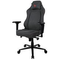 AROZZI PRIMO Woven Fabric šedá s červeným logem - Herní židle