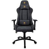 AROZZI VERONA Signature Soft Fabric černá se zlatým logem - Herní židle