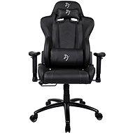 AROZZI INIZIO Black PU černá s šedým logem - Herní židle