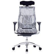ANTARES Pofit tmavě šedý rám, stříbrná síť s kresbou - Kancelářská židle