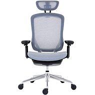 ANTARES BAT NET GRAY PDH šedá + podložka pod nohy - Kancelářská židle