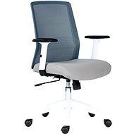 ANTARES Novello bílo/šedá - Kancelářská židle