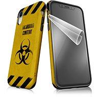 """Moje pouzdro """"Na vlastní riziko"""" + ochranná fólie pro APPLE iPhone XR - Ochranný kryt by Alza"""