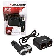 4CARS Rozdvojka zapalovače kombinovaná 12/24V S USB - Autoadaptér