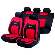 Walser Seat Covers for Whole Vehicle RS Racing Red/Black - Car Seat Covers