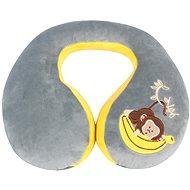 Walser polštářek cestovní/krční límec Monkey šedý (od 5 let) - Polštář