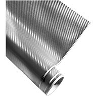 4CARS Fólie 3D CARBON se vzduchovými kanálky stříbrná 1.52x2m - Fólie
