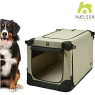 Maelson Crate Soft Kennel XXXL 120×77×86 cm black/beige - Shipping Box