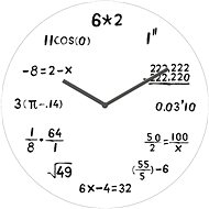 POSTERSHOP VM13AV032 Mathematics - Wall Clock