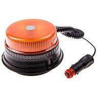 Maják oranžový LED 36W, 12LED, magnet, 1-funkce  - Maják