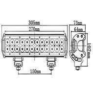 VAPOL Světelná LED rampa, 72W, 7200 lm - Pracovní světlo