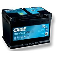 EXIDE START-STOP AGM 70Ah, 12V, EK700 - Car Battery