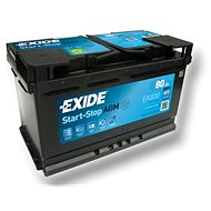 EXIDE START-STOP AGM 80Ah, 12V, EK800 - Autobaterie