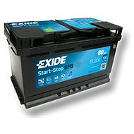 EXIDE START-STOP EFB 80Ah, 12V, EL800 - Car Battery