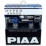 PIAA Hyper Arros 5000K H3 + 120%. jasně bílé světlo o teplotě 5000K, 2ks