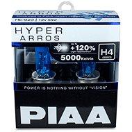 PIAA Hyper Arros 5000K H4 + 120%. jasně bílé světlo o teplotě 5000K, 2ks