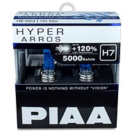PIAA Hyper Arros 5000K H7 + 120%. Bright White Light at a Temperature of 5000K, 2pcs - Car Bulb