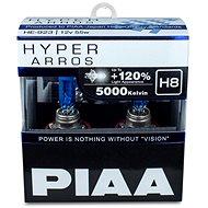 PIAA Hyper Arros 5000K H8 + 120%.  jasně bílé světlo o teplotě 5000K, 2ks - Autožárovka
