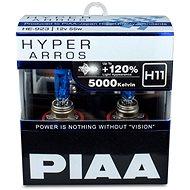 PIAA Hyper Arros 5000K H11 + 120%. jasně bílé světlo o teplotě 5000K, 2ks