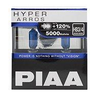 PIAA Hyper Arros 5000K HB3/HB4 -+ 120%. jasně bílé světlo o teplotě 5000K, 2ks